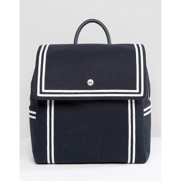 Tommy Hilfiger TommyxGigi Nautical Backpack ($250) ❤ liked on Polyvore featuring bags, backpacks, navy, nautical backpack, navy blue backpack, navy bag, knapsack bag and anchor bag