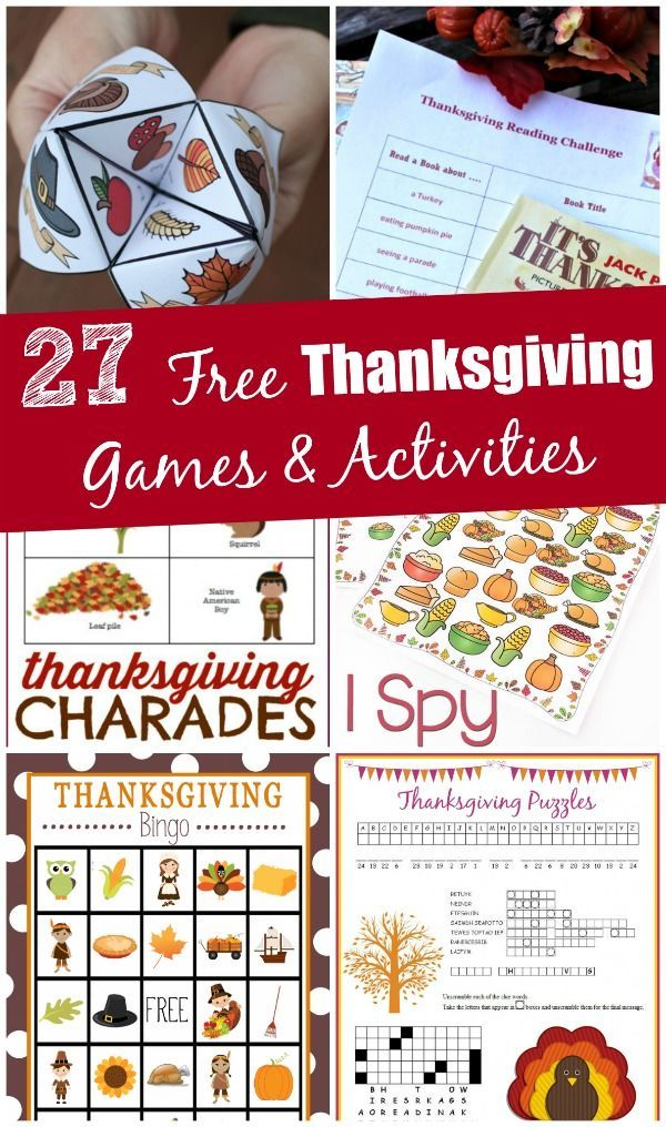 I LOVE these Free Thanksgiving games and activities!  Perfect for easy fun with the kids or something to do around the table.