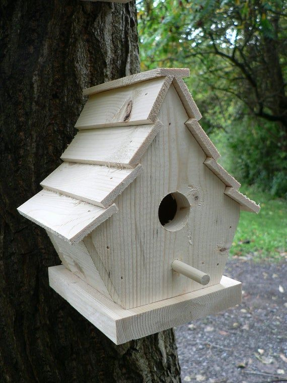 Two Wooden Birdhouses The Uptown Unique Bird Houses Bird Houses Cool Bird Houses