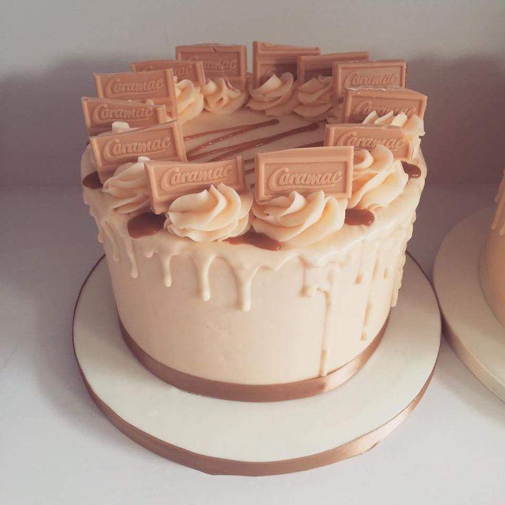 Caramac buttercream cake