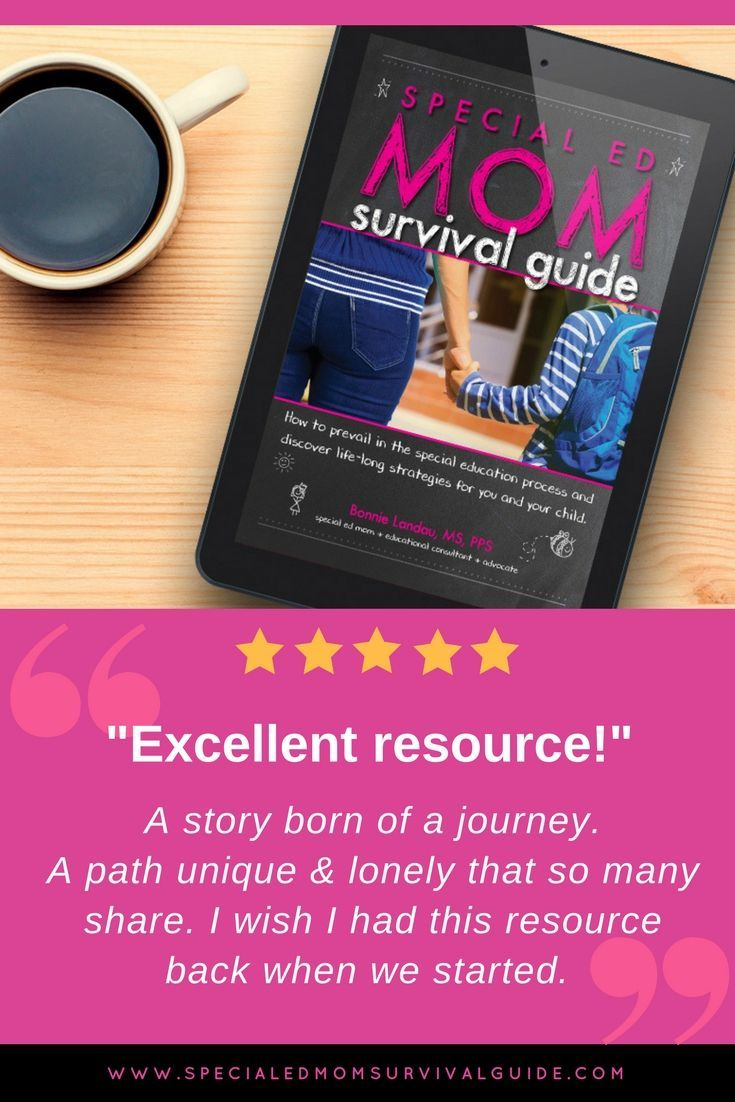 Special Ed Mom Survival Guide By Bonnie Landau The Ultimate Resource For Parents Working To Get The Best Survival Guide Book Survival Guide Special Needs Mom