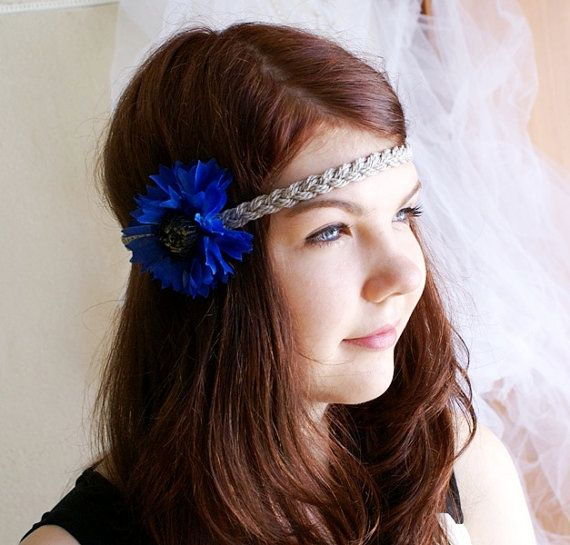 @Kathy Fiscus Like this? Bride Bohemian Flower Blue Headband Festival by DreamBlossoms, $9.95