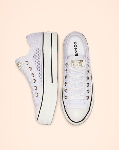701ca3acae7 Chuck Taylor All Star Handmade Crochet Lift Low Top White/White/Black