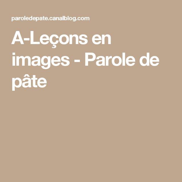 A-Leçons en images - Parole de pâte