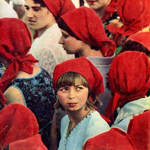 Red scarves. USSR, 1981.