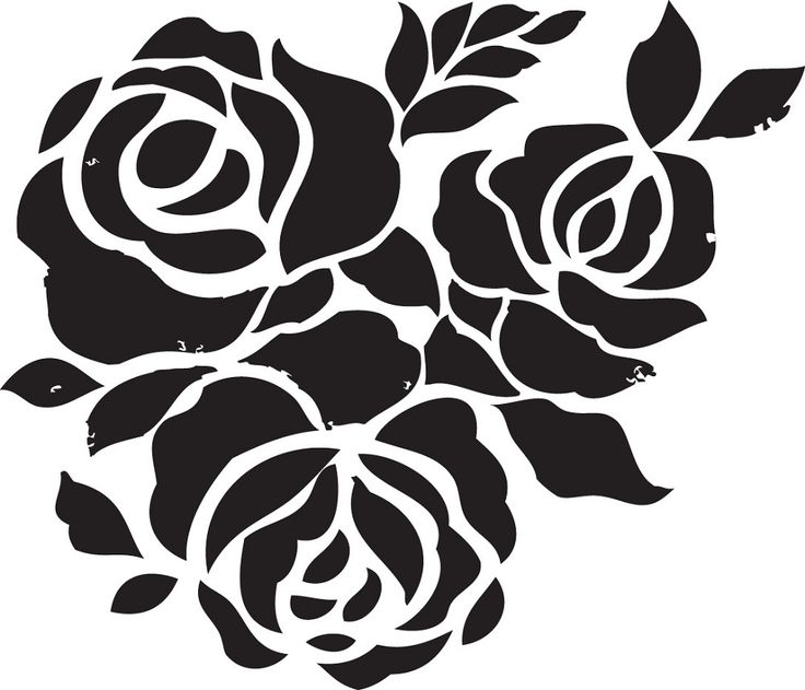 Rose Flower Stencils Printable for Decoration | Activity Shelter
