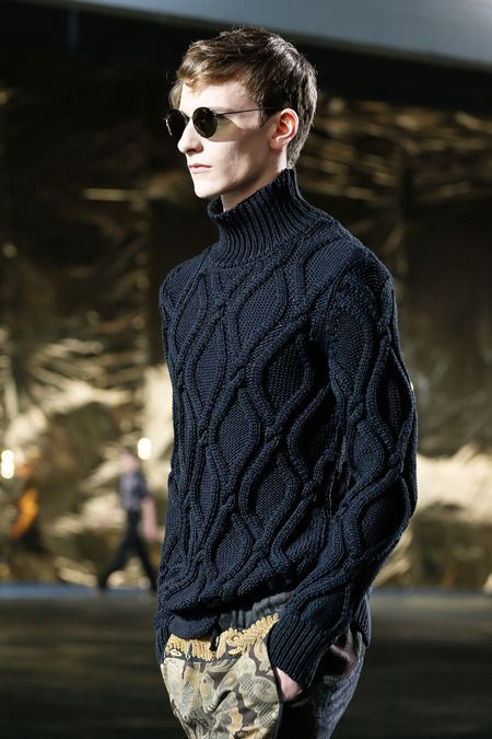 2014 Dries Van Noten   ~   Inspiration!  Loving these cables and the colour