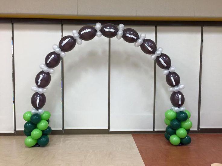 Football balloon arch