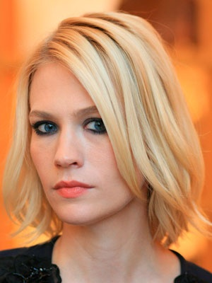 Celebrity hair: January Jones...thinking of a bob for fall???