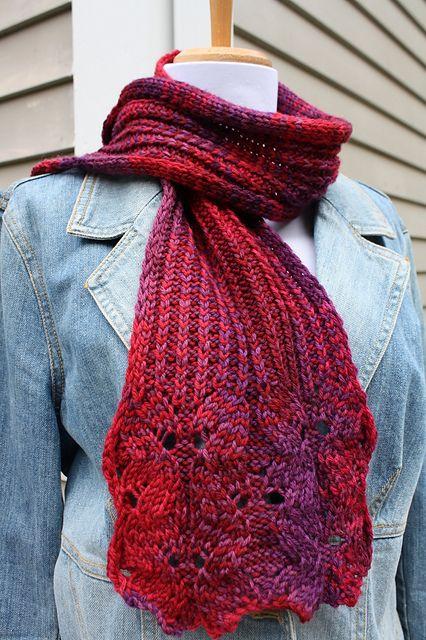 Free Pattern: Wine Flower Scarf by Natalia Blank, worsted wt yarn , free