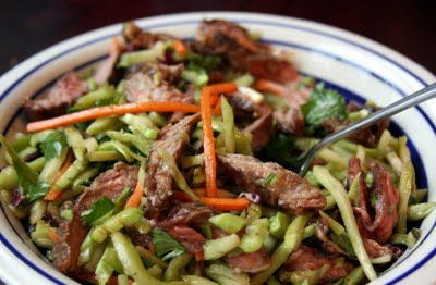 Beef and Broccoli Sesame Slaw. A great way to get in some veggies while making use of leftover grilled meat.