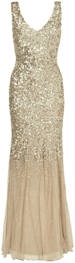 House of Fraser Phase Eight Luna sequin full length dress on shopstyle.com.au
