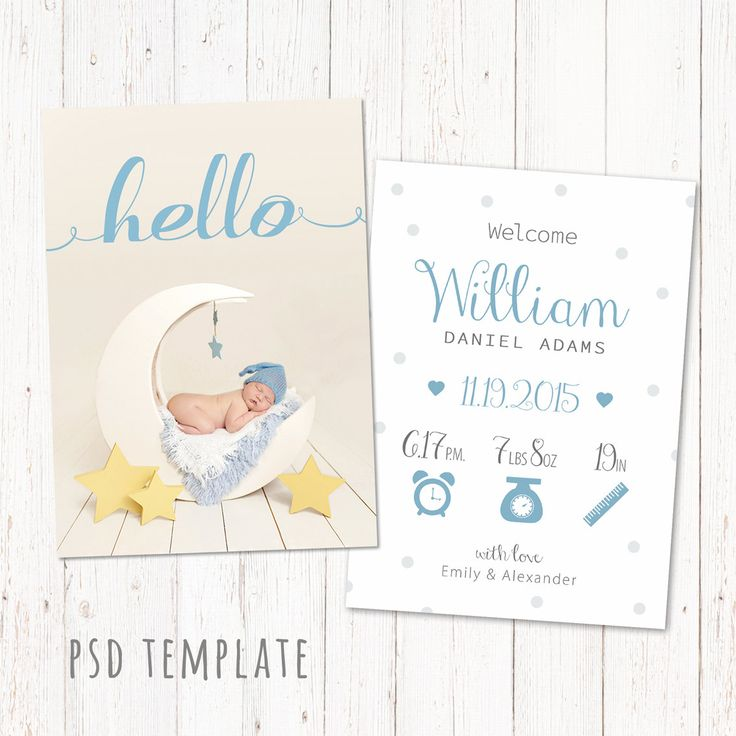 free birth announcement template - birth announcement template card digital baby boy birth