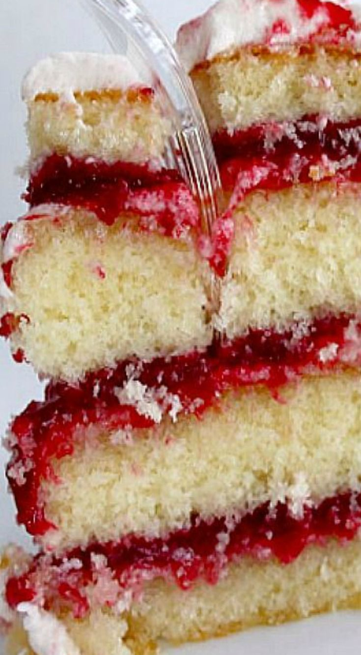 Raspberry Zinger Cake ~ Divine... It's like a Hostess Raspberry Zinger. Only better.