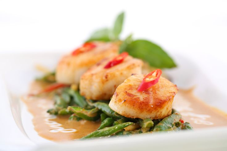 Siam Ruby: Pan Seared Sea Scallops with traditional Thai red curry ...