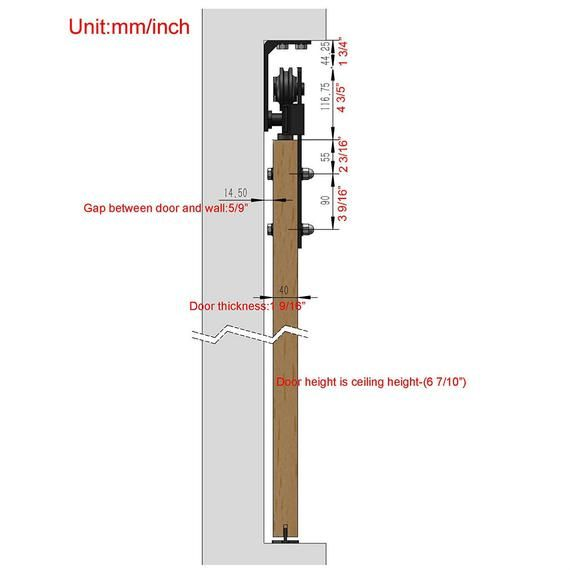 Top Ceiling Mount Black Steel Rustic Modern Sliding Barn Door Hardware Wood Closet Door Interior Door Rolling Sliding Door Track Roller Kit Modern Sliding Barn Door Sliding Barn Door Track Barn