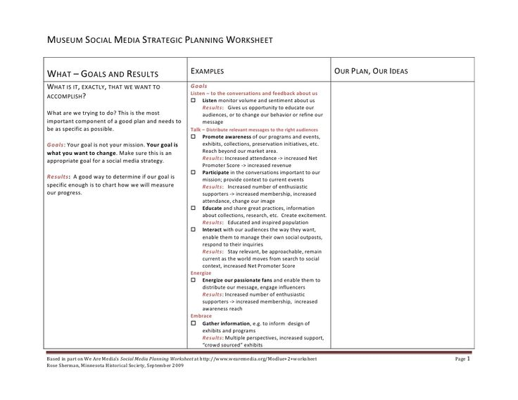 100+ Strategic Planning Worksheet - Life Planner Template My Life ...