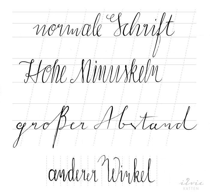 Moderne Kalligraphie - Stile