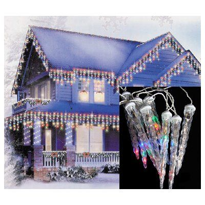 The Holiday Aisle 6 Dripping Icicle Shape Light Christmas Lights Color: Multi