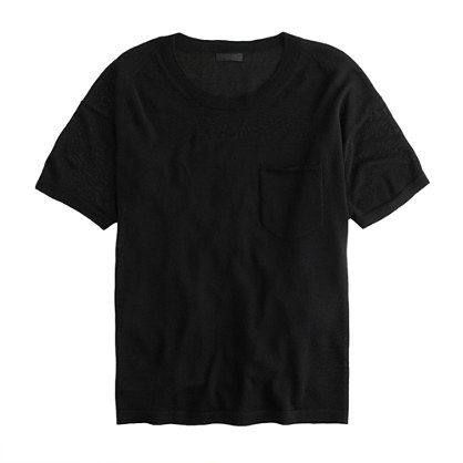 We made this classic pocket tee in our signature featherweight Italian cashmere. Then we realized we should have done it a long time ago because, now, it's basically all we want to wear. <ul><li>Relaxed fit.</li><li>Hits slightly below hip.</li><li>Italian cashmere in a 14-gauge knit.</li><li>Rib trim at neck and cuffs.</li><li>Dry clean.</li><li>Import.</li></ul>