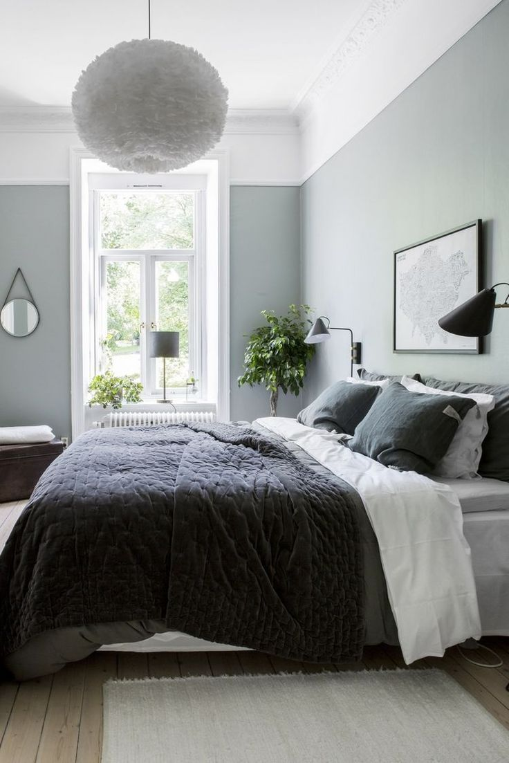 Cozy bedroom in green (COCO LAPINE DESIGN)
