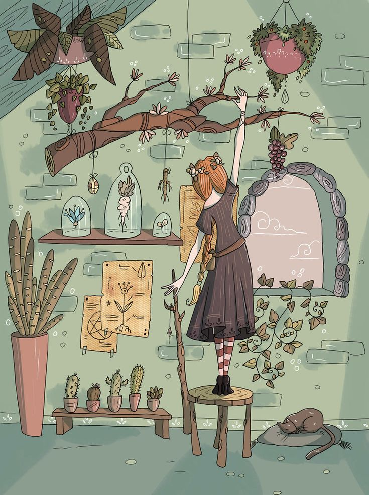 Mya the Herb Witch by RamylieDouglas.deviantart.com on @DeviantArt