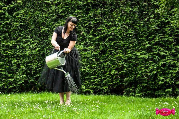 """""""Księżniczkowa"""" spódnica- bawełniana podszewka, 1 warstwa marszczonego tiulu, na gumce Princess dress"""