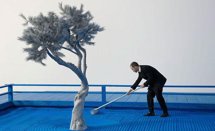 Surreal Blue Zen Garden at High Museum of Art in Atlanta — Infloz