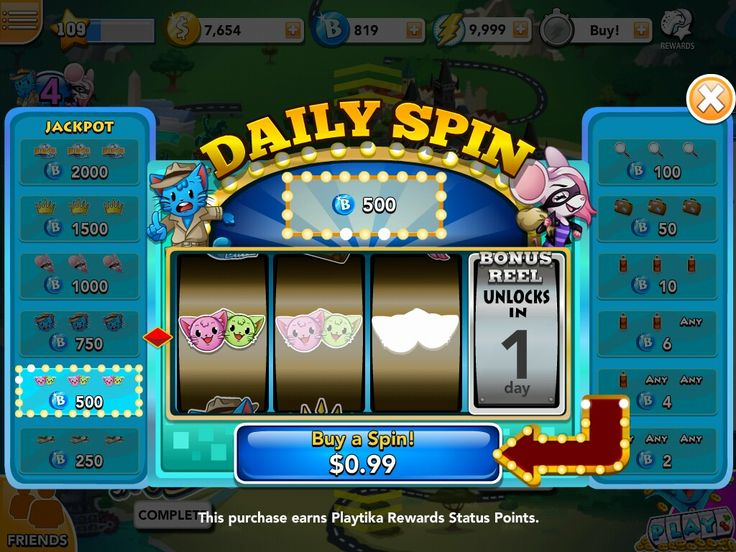 Free daily spin 500 credits won bingo blitz bingo