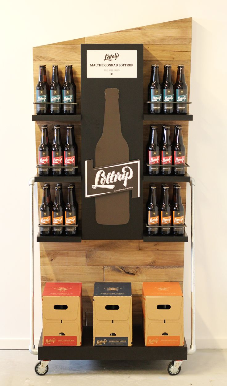 Montdor.dk Creative Agency Jacob Bjerring on Behance Retail Display for Lottrup Beer #Retail #Display #Beer