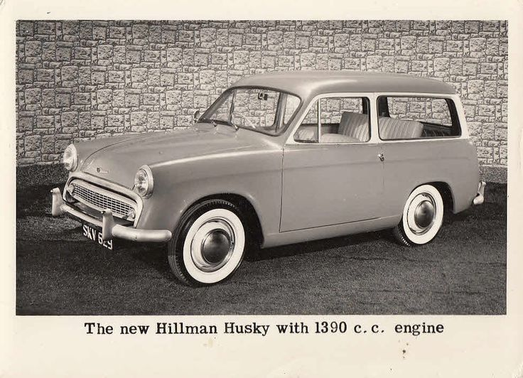 This is the original 1956 Hillman Husky: a Minx front-end, with a van-type body structure, and doors with no locks.