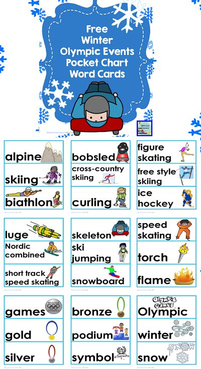 Free-Winter-Olympics-pocket-chart-words for likers only on Facebook