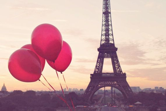 Red Balloons in Paris, Eiffel Tower, Paris Photography, Autumn in ...