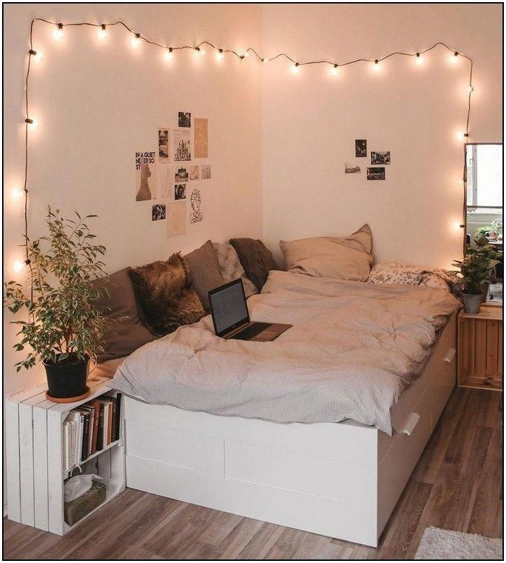 65 minimalist bedrooms with cheap furniture that you can reach page 46 | Pointsa…  #Schlafzimmer