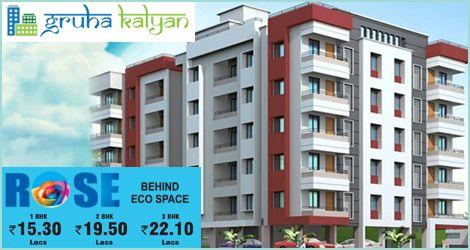Gruhakalyan ROSE - Marathahalli/Bellandur BEHIND ECO SPACE, Flats Available Price Starts From 1BHK 15.30 LAKHS, 2BHK 19.50 LAKHS & 3BHK 22.10 LAKHS.