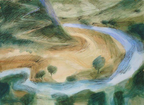 Eleri Mills RCA: Tirlun Barddol (Bardic Landscape) Mixed Media | Martin Tinney Gallery