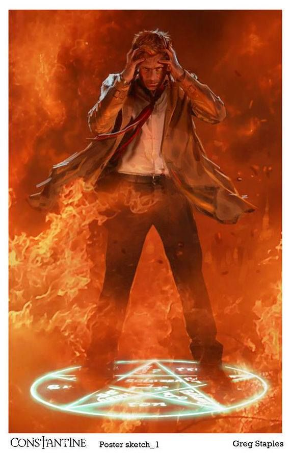 Constantine by Greg Staples. Please give me another season of Constantine.