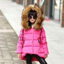 Moda parka vestiti della ragazza di marca vestiti del capretto inverno multicolor tuta sportiva dei bambini cappotti ragazze della principessa usura del rivestimento dei bambini