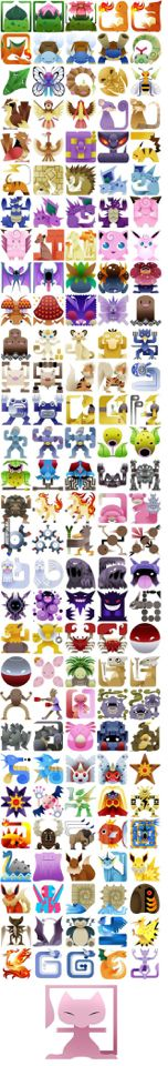 Coolest Square Pokemon Artwork! First 150! #pokemon