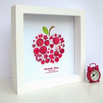cadre pomme cadeau maitresse