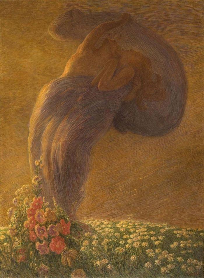 Gaetano Previati 1852-1920 | Italian Symbolist painter Il sogno 1812