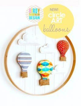 *NEW* Circle Art ♥ Balloons in Citrus