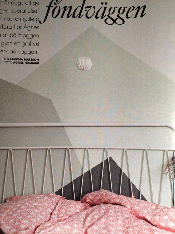 Grafisk mønster på veggen