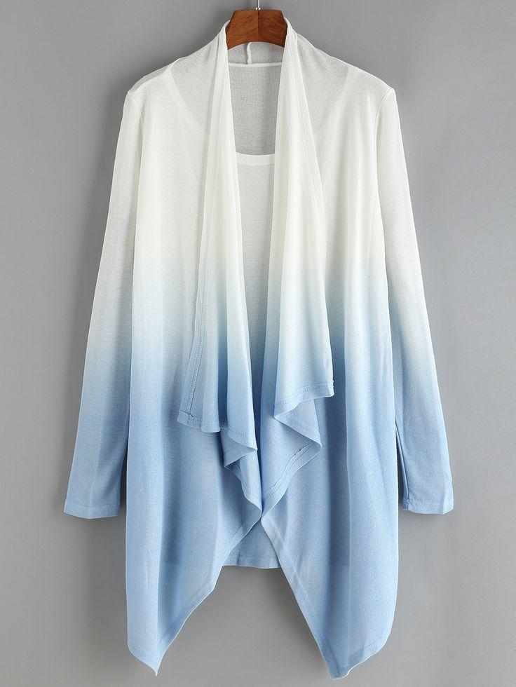 Shawl+Collar+Ombre+Knitwear+18.99
