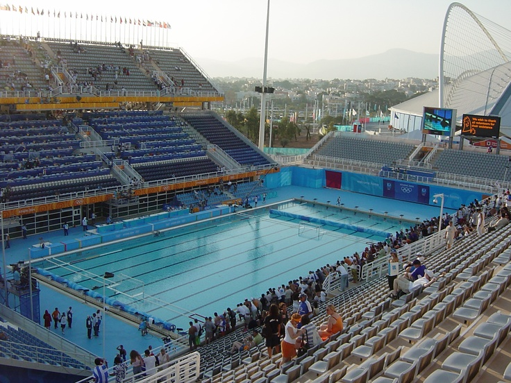 Olympics 2004 Athens Swimming Pool Swimming Pinterest