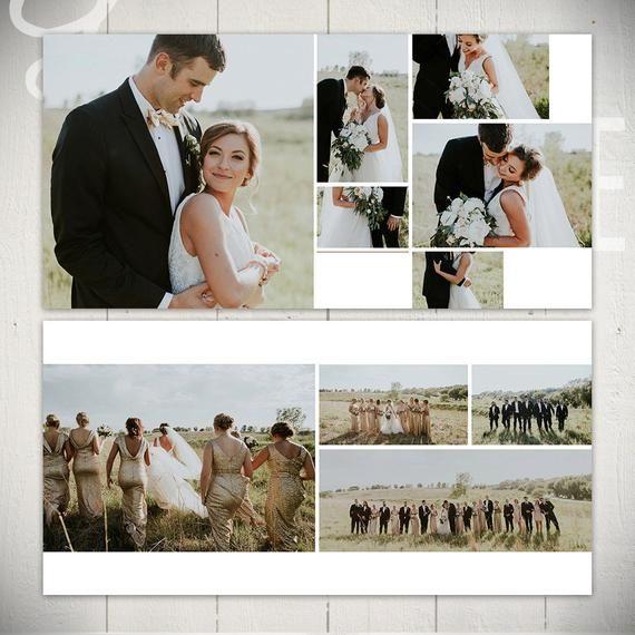 Plantilla de álbum de boda: Black Tie – Plantilla de libro de bodas de 10×10 para Photoshop   – ART & DESIGN   photobook layouts