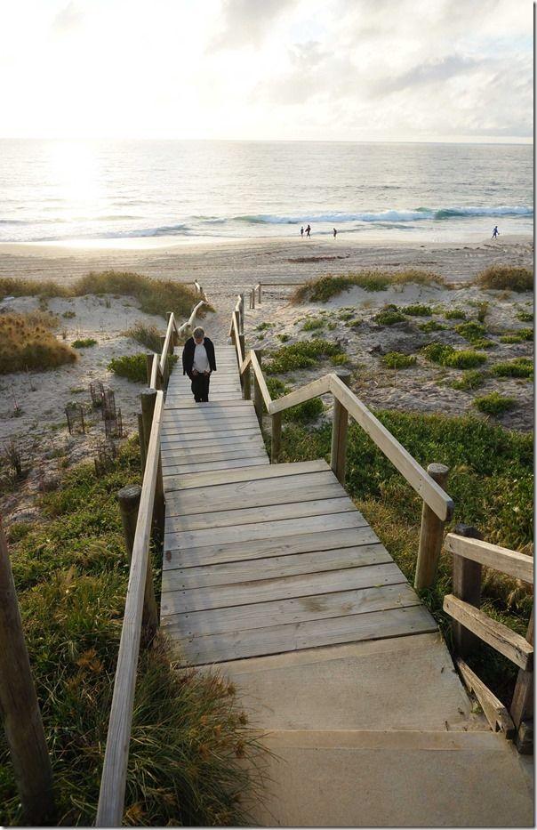Footpath onto Cottesloe beach, Perth, Western Australia