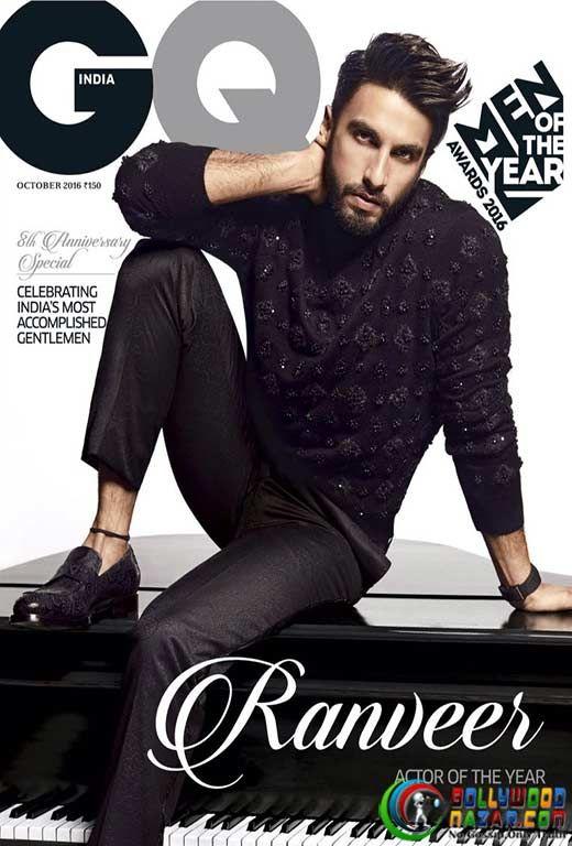 ACTOR OF THE YEAR RANVEER SINGH ON THE COVER OF GQ  #Bollywoodnazar #RanveerSingh