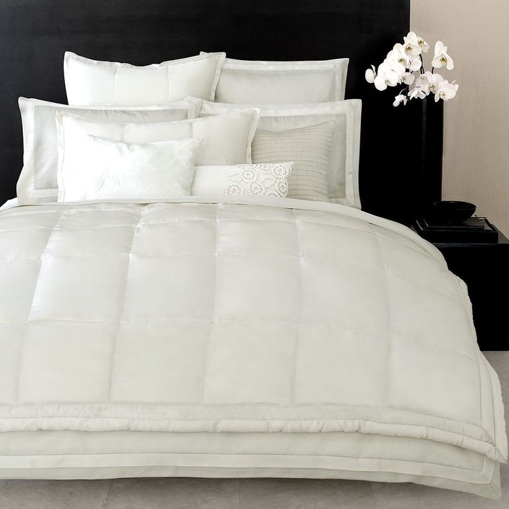 really want a big comfy white bed set