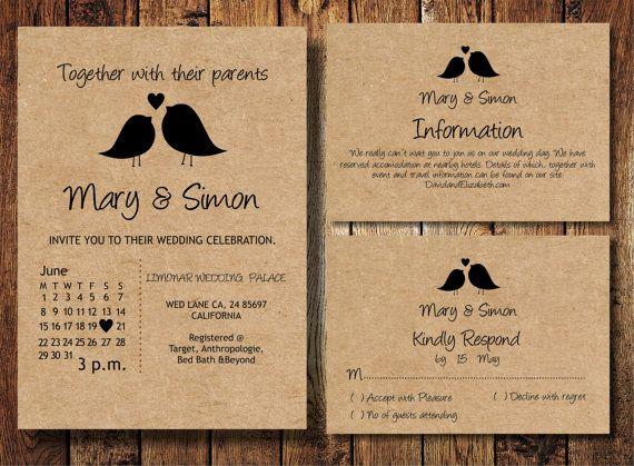 the 25+ best casual wedding invitations ideas on pinterest,